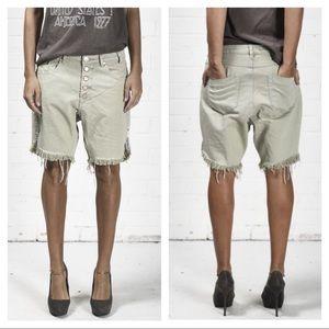 NEW One Teaspoon Bone Frankies slouch shorts